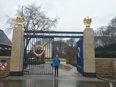 Bobby at the Luxembourg American Cemetery + Memorial. I was already getting emotional at the entrance.