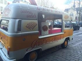 The cutest belgian waffle van in Brussels