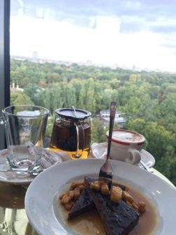 We stopped at the Monkey Bar (a bar on the top floor of a tall building) for some coffee, tea, and a dessert to share.