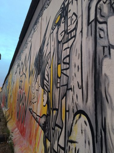 Art on the east side gallery.