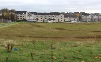 Former football pitch, Easterhouse.