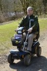 Mobility scooter at Mugdock Country Park. ©Lorne Gill/SNH