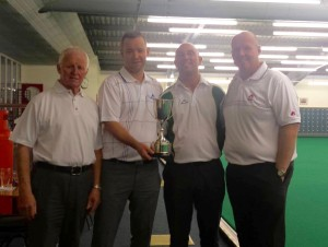 ELIBC Gents Scottish Fours Winners (left to right) Willie Wood MBE, Scott Kennedy, Andrew Jeffrey & Billy Mellors