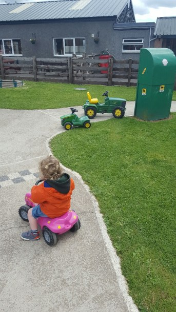 On the farm, tractor style