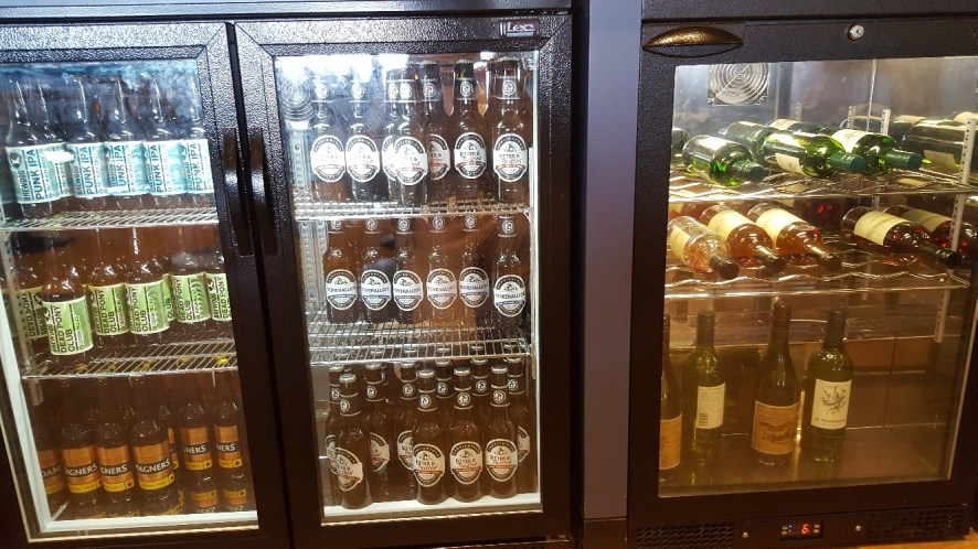 Help yourself to beer and wine