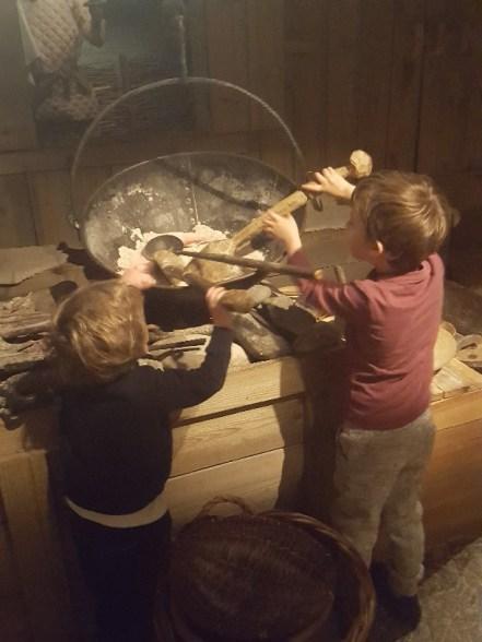 Cooking up fish porridge!