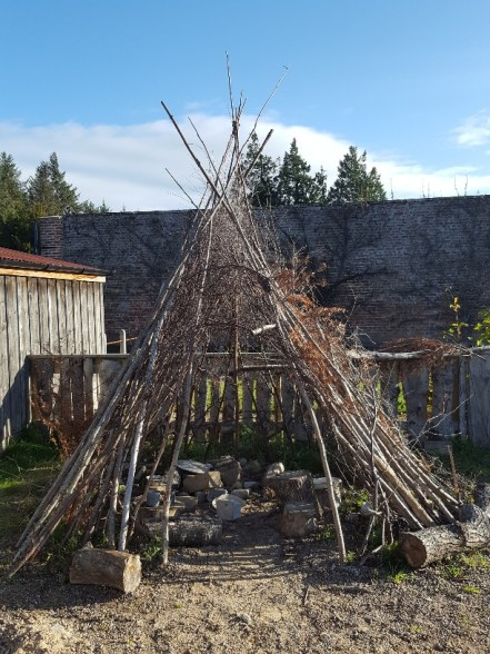 Wigwam within the Natural Play Area