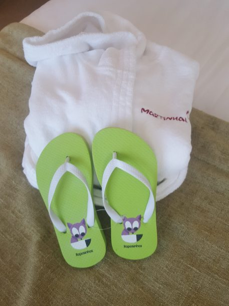 Robe and flipflops for tots