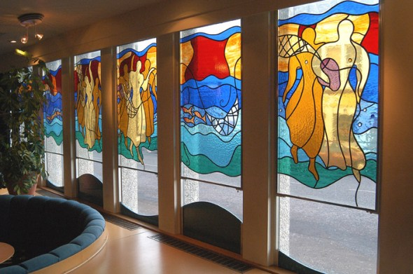 Glasswork at The Brunton