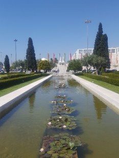 Formal gardens just in front of Monastery of Jeronimos, Vasco da Gama