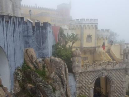 The colourful Pena Palace