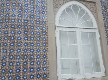 Detailed exterior at Pena Palace