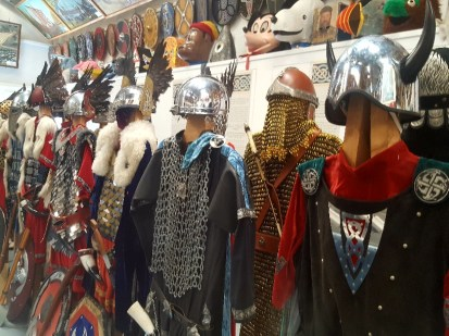 Detailed Jarl Squad Costumes on display at the Galley Shed