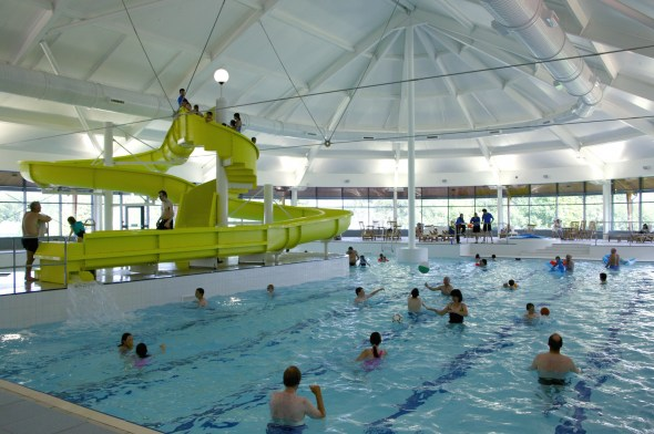The pool, complete with wave machine, at Macdonald Aviemore Resort - image courtesy of MAR