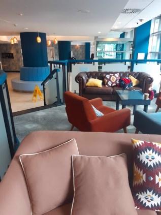 Public lounge at the Glasgow Novotel