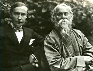 Rabindranath Tagore (right) with his German publisher Kurt Wolff (left) in 1921.  Image credit: Martin Kaempchen/ Visva-Bharati University