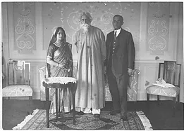 Rabindranath Tagore, his son Rathindranath Tagore and daughter-in-law Pratima Devi in Germany, 1926.  Image credit: Visva-Bharati University