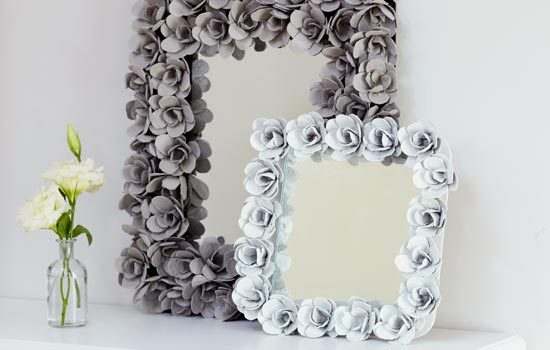 Egg tray mirror frames