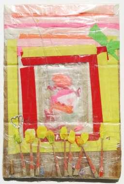Die Newe Welt Garden Window tape painting by Scott Latimore