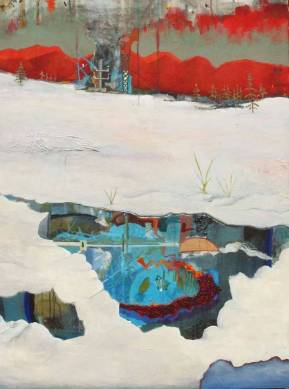 There is Content Beneath the Ice landscape painting by Scott Latimore