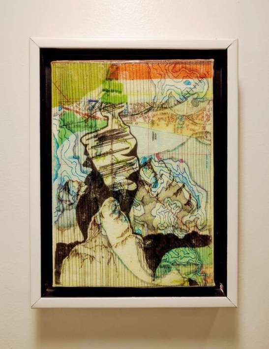 Earth Memory Acrylic Transfer Painting #9 -Scott Latimore
