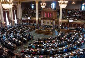 The Iowa House of Representatives convenes for the 86th General Assembly. 1/12/2015 Photo by John Pemble