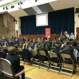 Lively crowd at Kirkham Grammar School