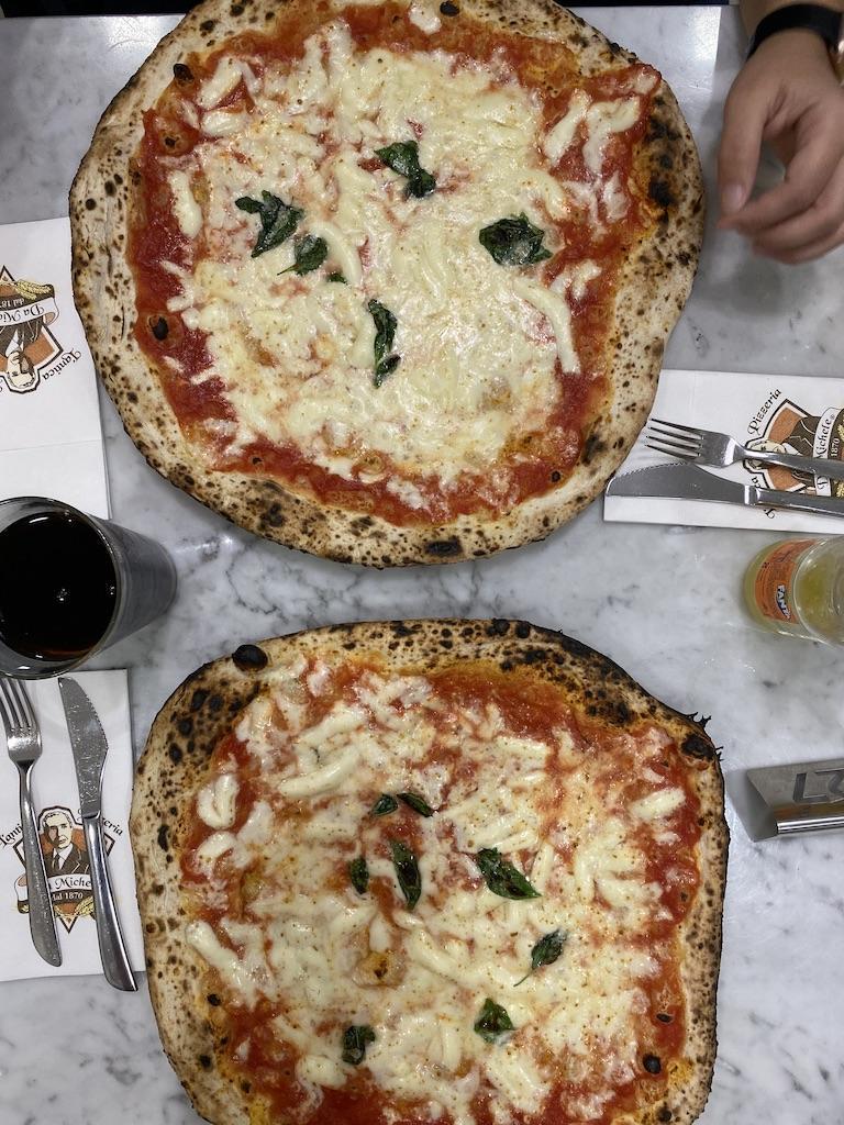Handmade pizza in Rome, Italy
