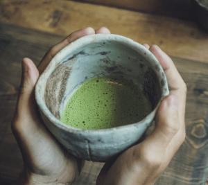 Matcha Tea Inside a Japanese Tea House