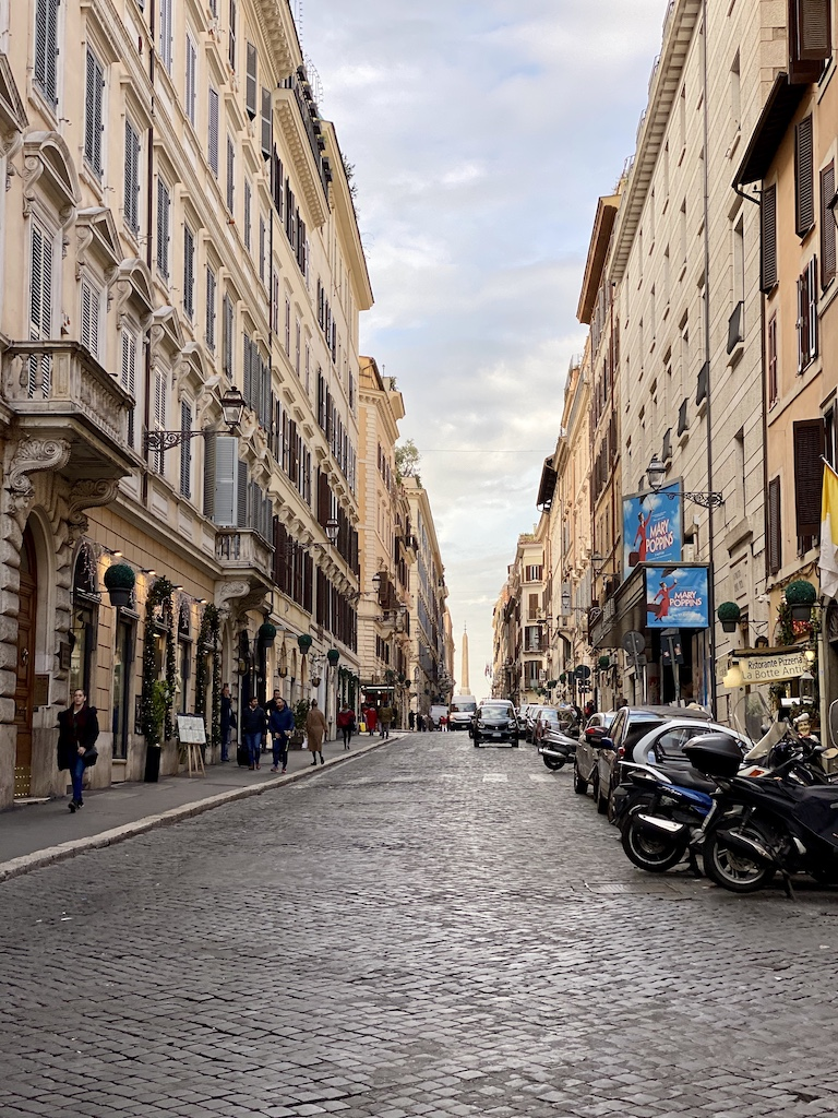 See the city streets in Rome, Italy