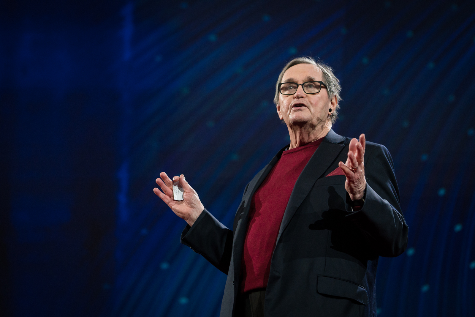 Brian Little speaks at TED2016 - Dream, February 15-19, 2016, Vancouver Convention Center, Vancouver, Canada. Photo: Bret Hartman / TED
