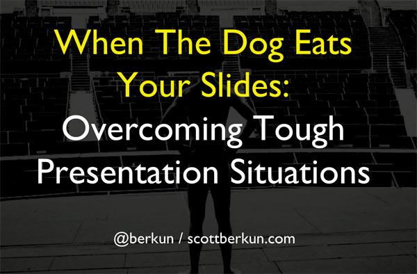 Q&A from Toughest Public Speaking Situations   Scott Berkun