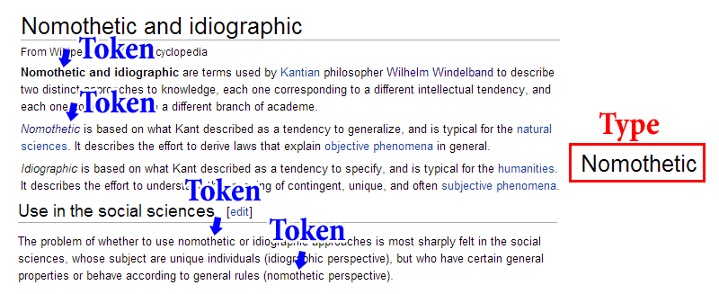 The Token/Type Distinction