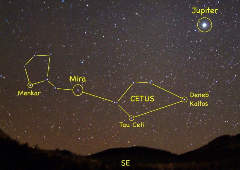 Mira Ceti and Jupiter. [via]