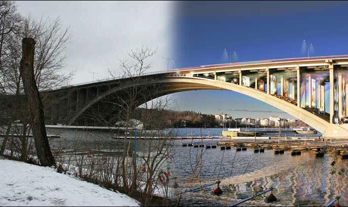 Tranebergsbron Bridge, Stockholm, Vision Divisiom