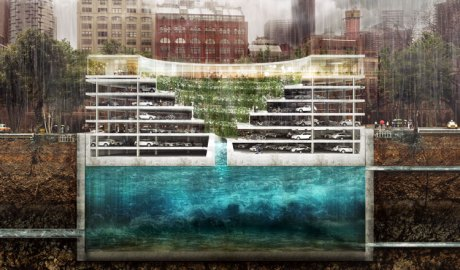 POP-UP parking garage by Third Nature is part of NatureStructure