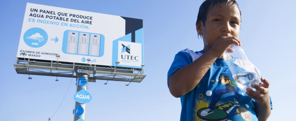 UTEC Water Billboard Reprogramming the City repurposing existing urban structures