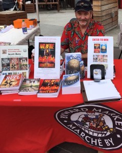selling books at ByWard Market Wildfire The Bones of the Earth The Eastern Front trilogy