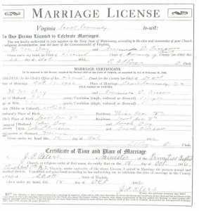 W. M. DAY & Amanda D. PIERSON, 1916 – Marriage