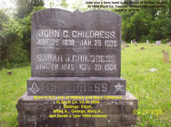 John C. and Sarah CHILDRESS