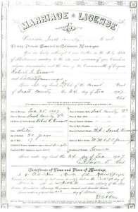 Robert R. PIERSON & Lakie JENNINGS, 1907 – Marriage