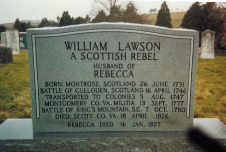 William Lawson Headstone