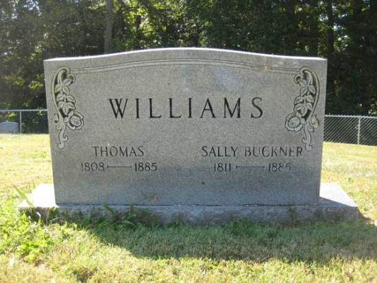 Headstone of Thomas Williams, Sally Buckner and Children