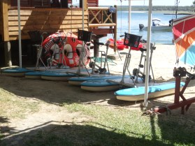Water bikes at One&Only Le Saint Géran