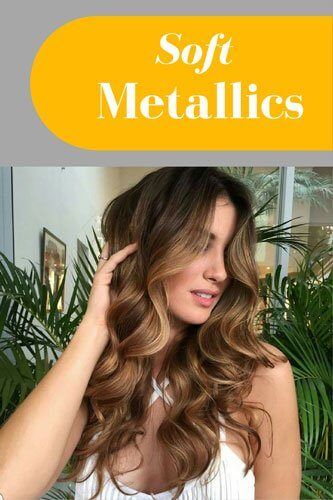 Metallic balayage hair color