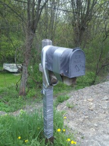 Duct tape can fix anything! Mailbox found along W. River Rd (photo credit: Timothy Oefelein)