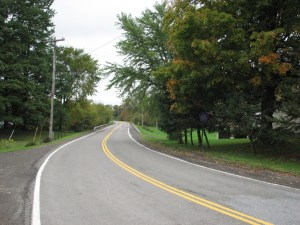 Looking west on Cuyler Lincklaen Rd (CR 12C/CR 152A) near intersection of CR 12/CR 53