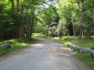 Denning Rd - pavement to dirt road