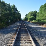 Railroad crossing south of Webbs Crossing Road (CR 66).