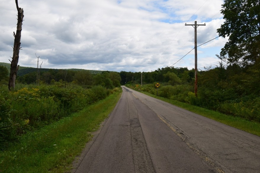 Looking south-east on Sawmill Run Rd
